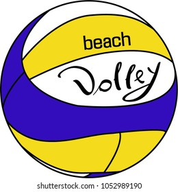 Icons of a beach volley. Sport concept.  Vector illustration for sammer sport. Ball for beach volley. Volleyball vector logo.