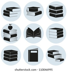 Icons of books. EPS-10 (non transparent elements,non gradient)