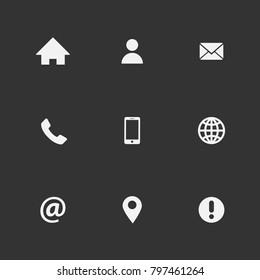 White Contact Symbols Images, Stock Photos & Vectors