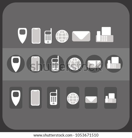 Icons Business Cards Company Site Much Stock Vector Royalty Free