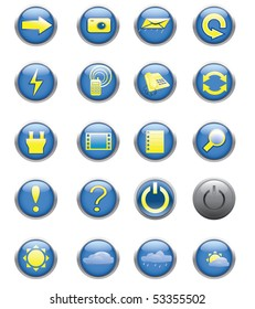 Icons. Buttons
