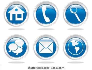 icons an buttons for web site template