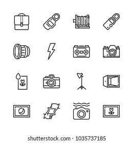 Icons Camera with washing picture, waterproof camera, hands framing, len and astro photo