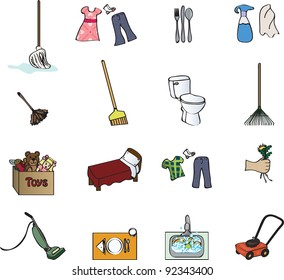 icons for a chore chart