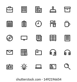 Icons Collection Office Outline/Line 32
