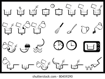 icons of cooking instruction