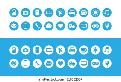 Icons design e-commerce flat