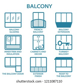 icons of different balconies