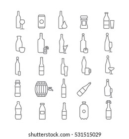Icons of different drinks
