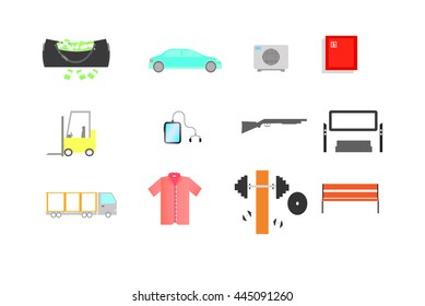 Icons with different objects