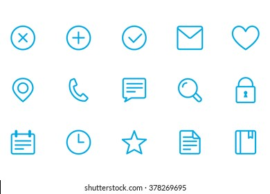 Icons of different, icons office, close icons, add icons, fulfilled icons, letter icons,