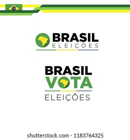 Icons election Brazil 2018