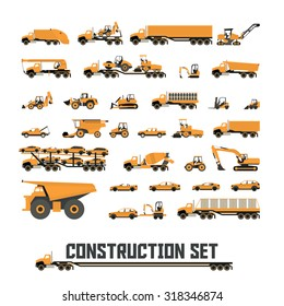 Icons in flat style ( Construction equipment ) | One Color Icons |