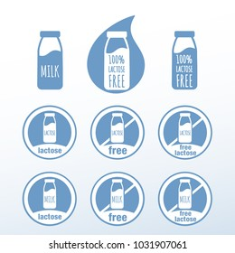Icons for food with and without lactose