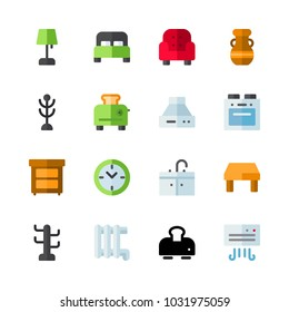 icons Furniture. vector toaster, vase and sink