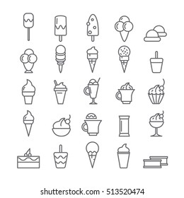 Icons with ice cream