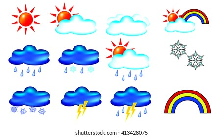 Icons to indicate weather