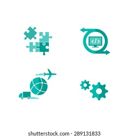 Icons for integrated and customized shipping software