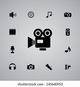 icons media set for use