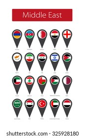 Icons Middle East flags