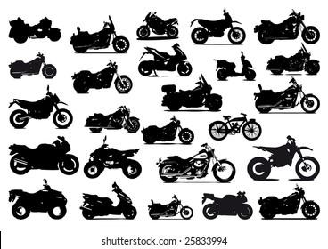 Icons motorbikes