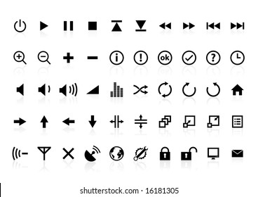 Icons for multimedia Interface.