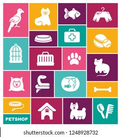 Icons on a veterinary science and care theme house pupils