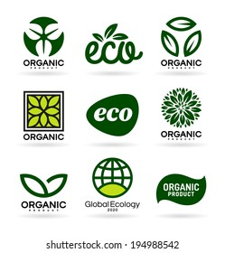 Icons of Organic Products and Ecology. Eco Icons (13)
