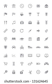 Icons and pictograms set. EPS10 vector illustration.