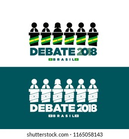 Icons for the presidential debates in the elections of Brazil 2018