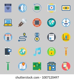 icons set about Digital Marketing. with shop, target, money, newspaper, medal and laptop