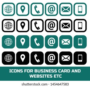 icons set for business card website and other use.this is in vector form