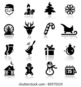 Icons set Christmas