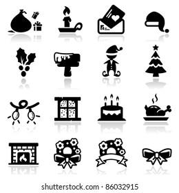 Icons set Christmas two