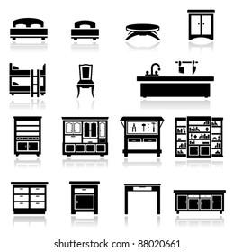 Icons set home furniture