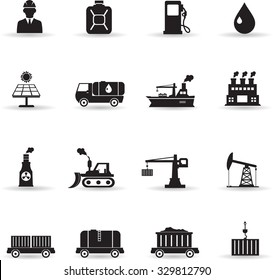 Icons set for industrial