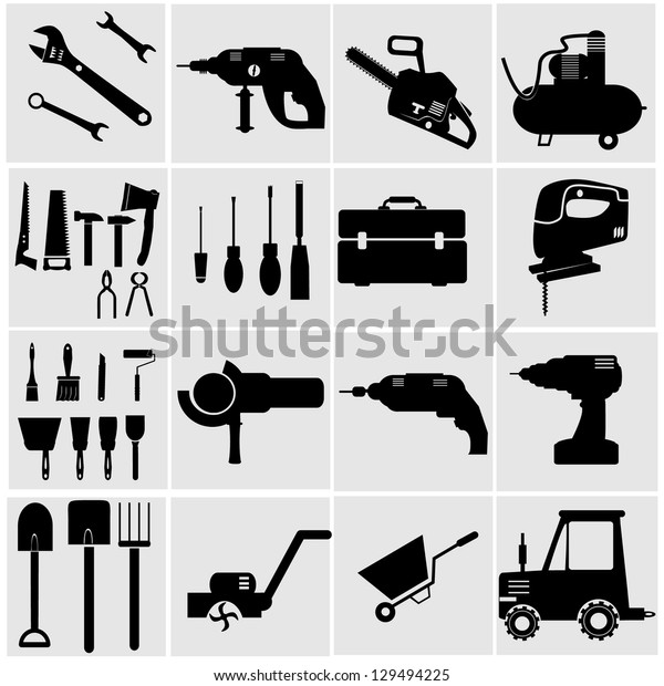 Icons set Industrial Tools.power tools vector