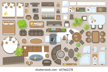 icons-set-interior-top-view-260nw-657462178 Free D House Plant Top View Vector Transparencies on