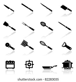 Icons set kitchen utensil