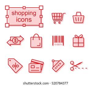 icons set - Shopping