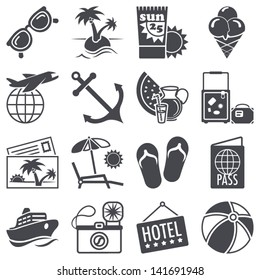 Icons set: Summer vacations