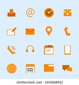 Icons set vector, vector icons with a simple concept.