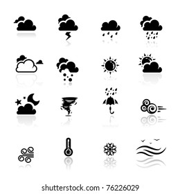 Icons set Weather