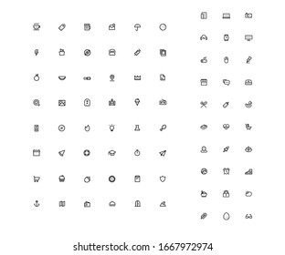 Icons Set For Website Application Design