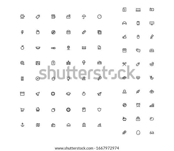 Icons Set For Website Application Design
