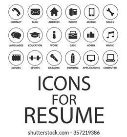 Icons For Resume.Cv Icons Stock Vectors Images Vector Art Shutterstock