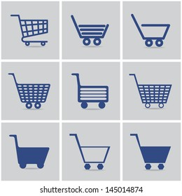 icons shopping cart. vector set. eps10