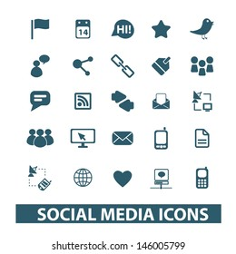 icons, signs set, vector