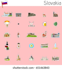 Icons of Slovakia - vector set