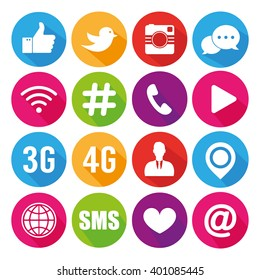 Icons for social networking vector
